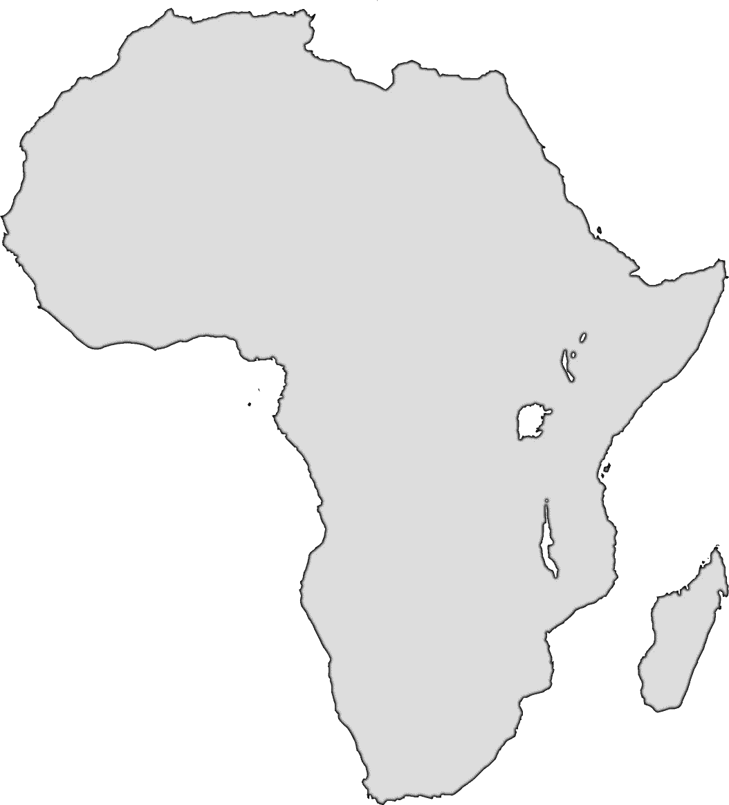 Africa clipart black and white Outline  Hd X Map