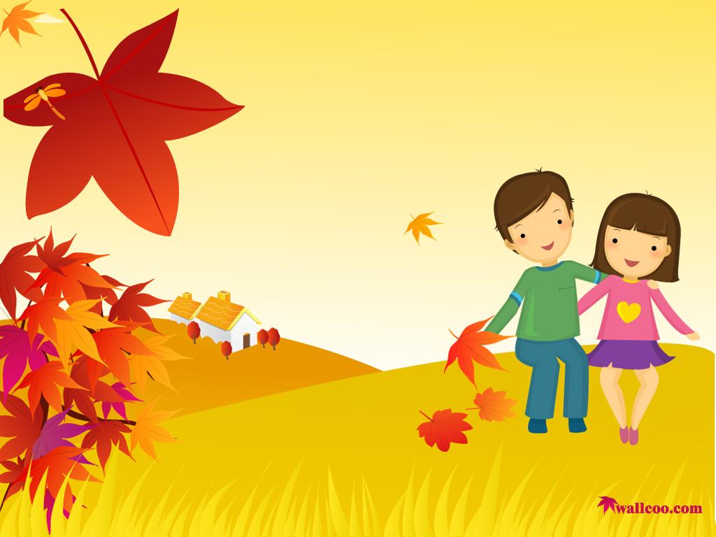 Wallpaper clipart autumn Desktop illustrations Vector  1024*768
