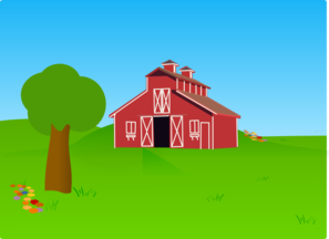 Background clipart farm Clipart background Barn background clipart