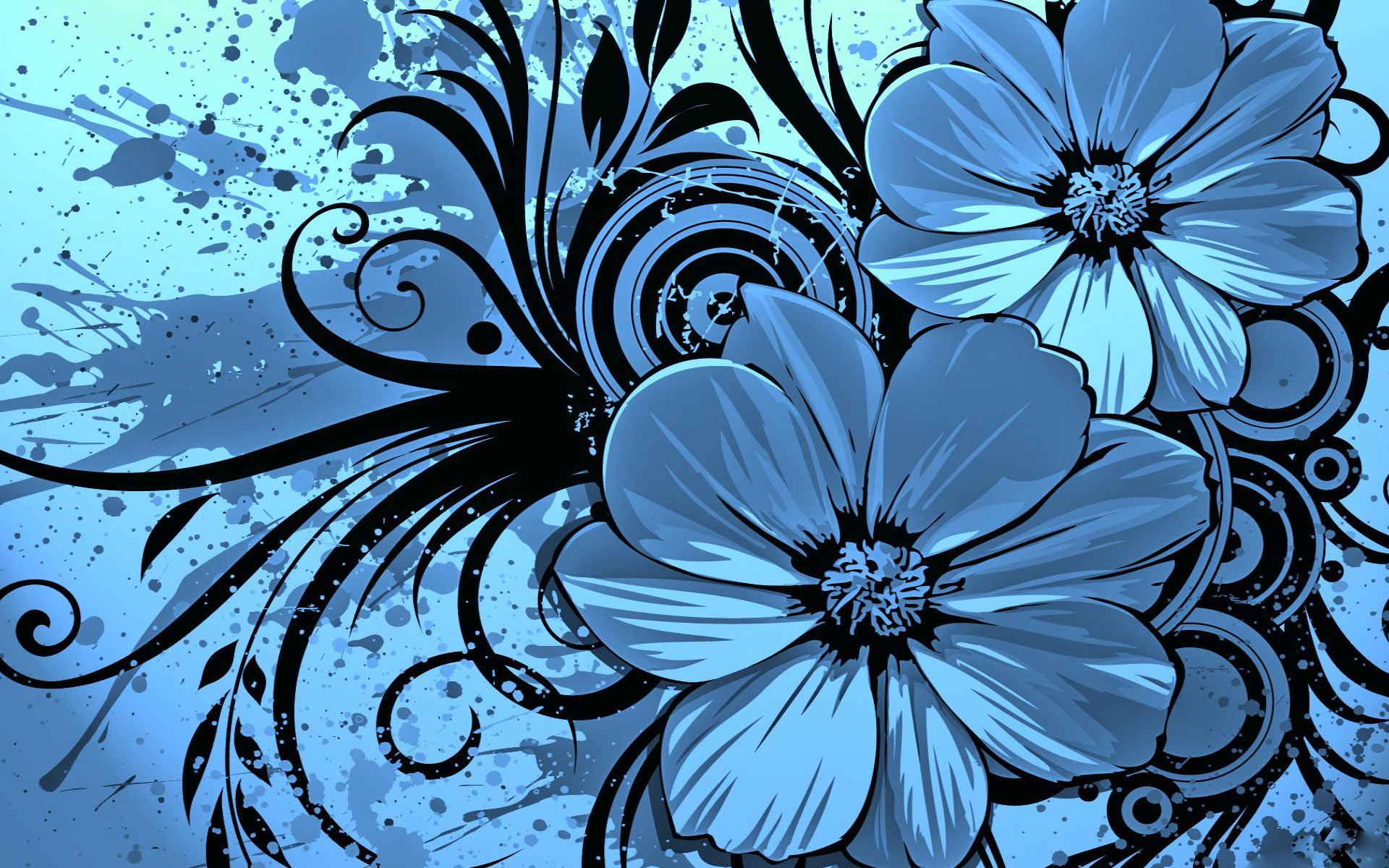 Wallpaper clipart blue flower Flowers PC Nus Pin Vee