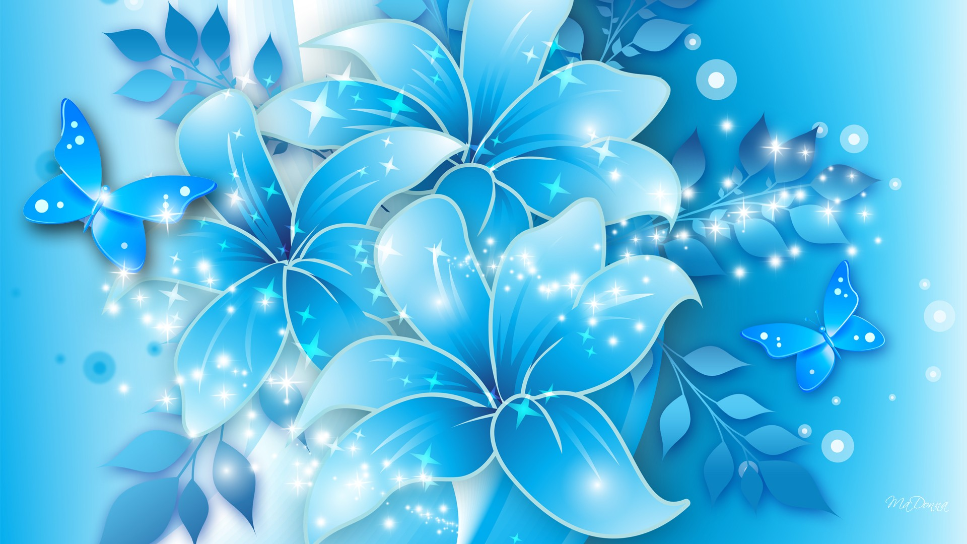 Wallpaper clipart blue flower Art art flower wallpaper7 wallpaper