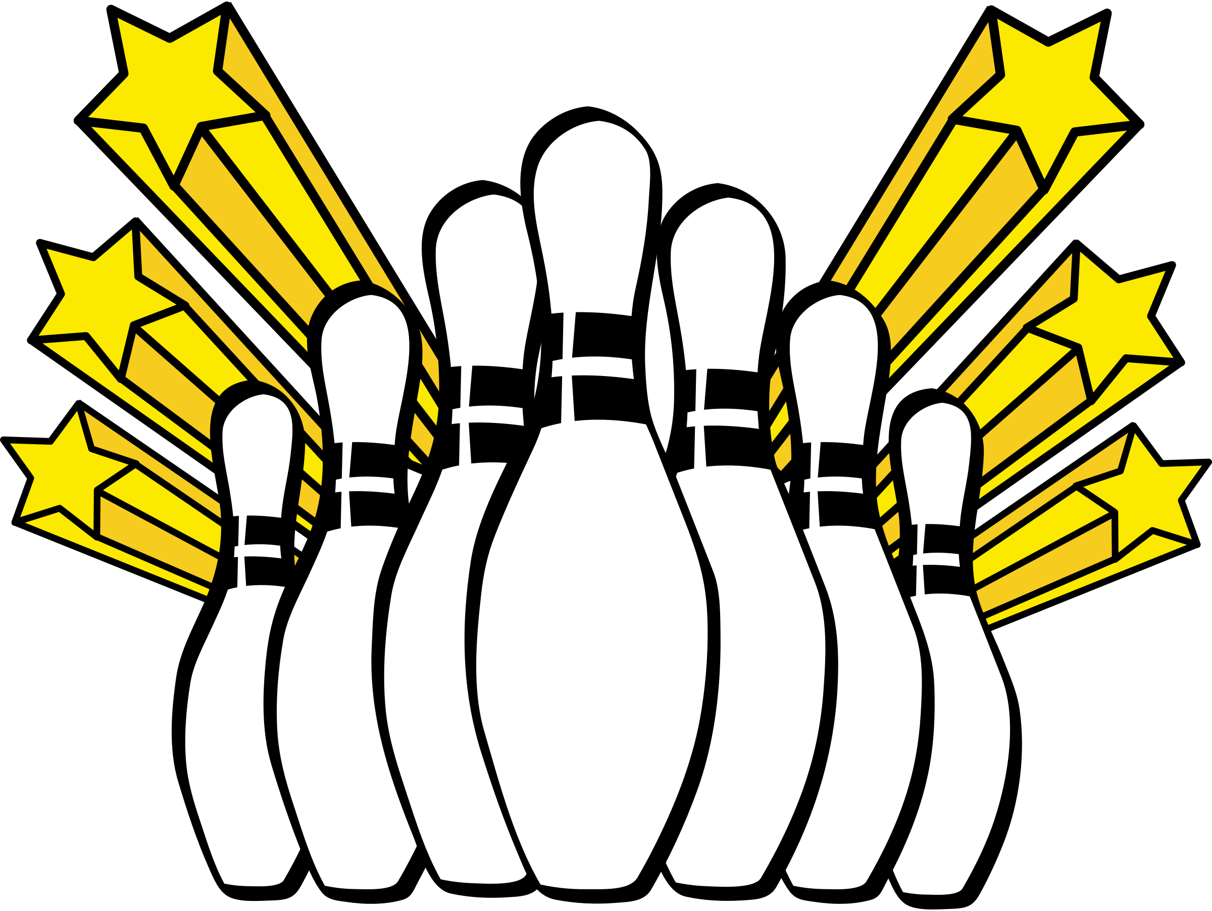 Retro clipart bowling pin #1