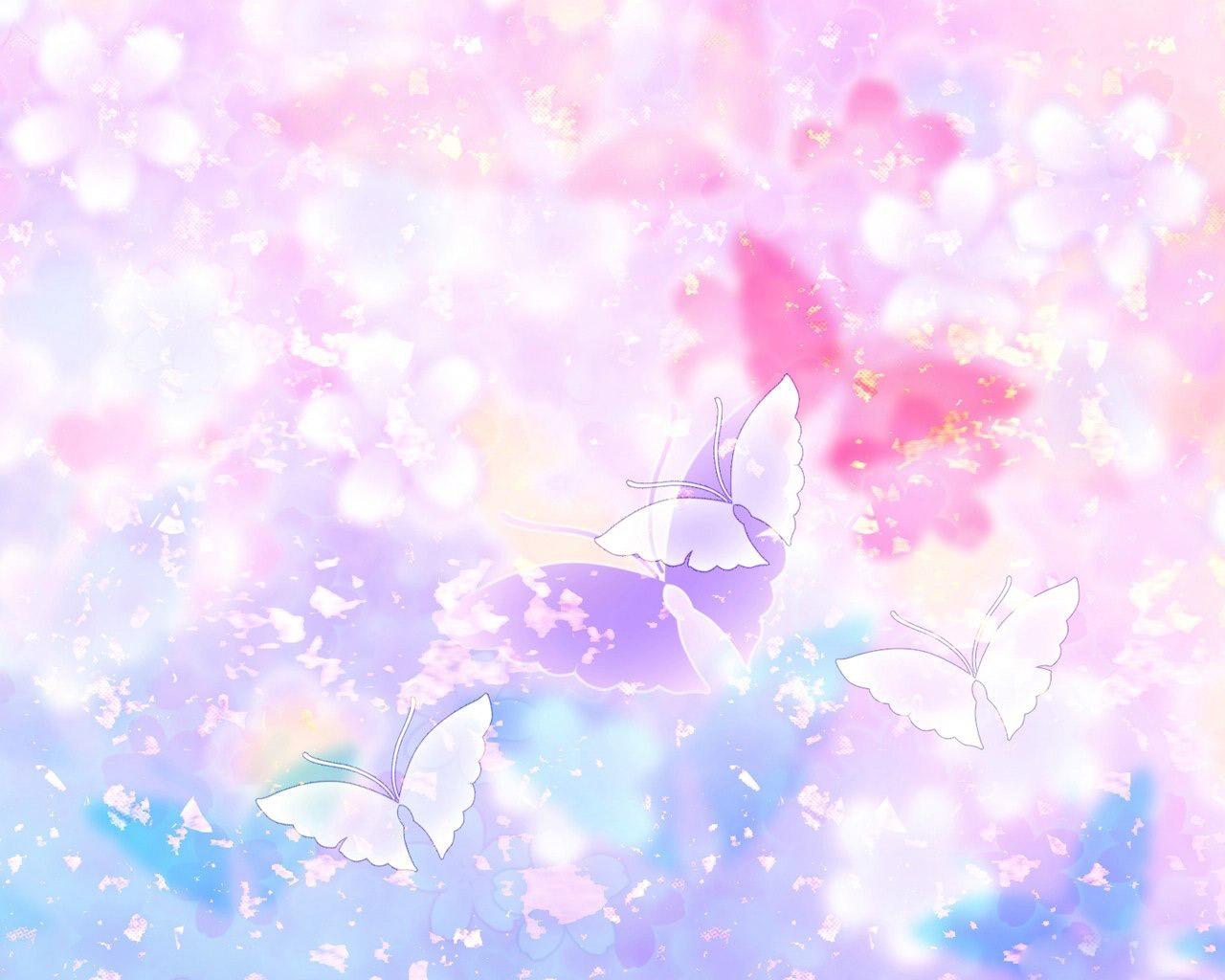 Pink Flower clipart wallpaper Clip  Butterflies clipart high