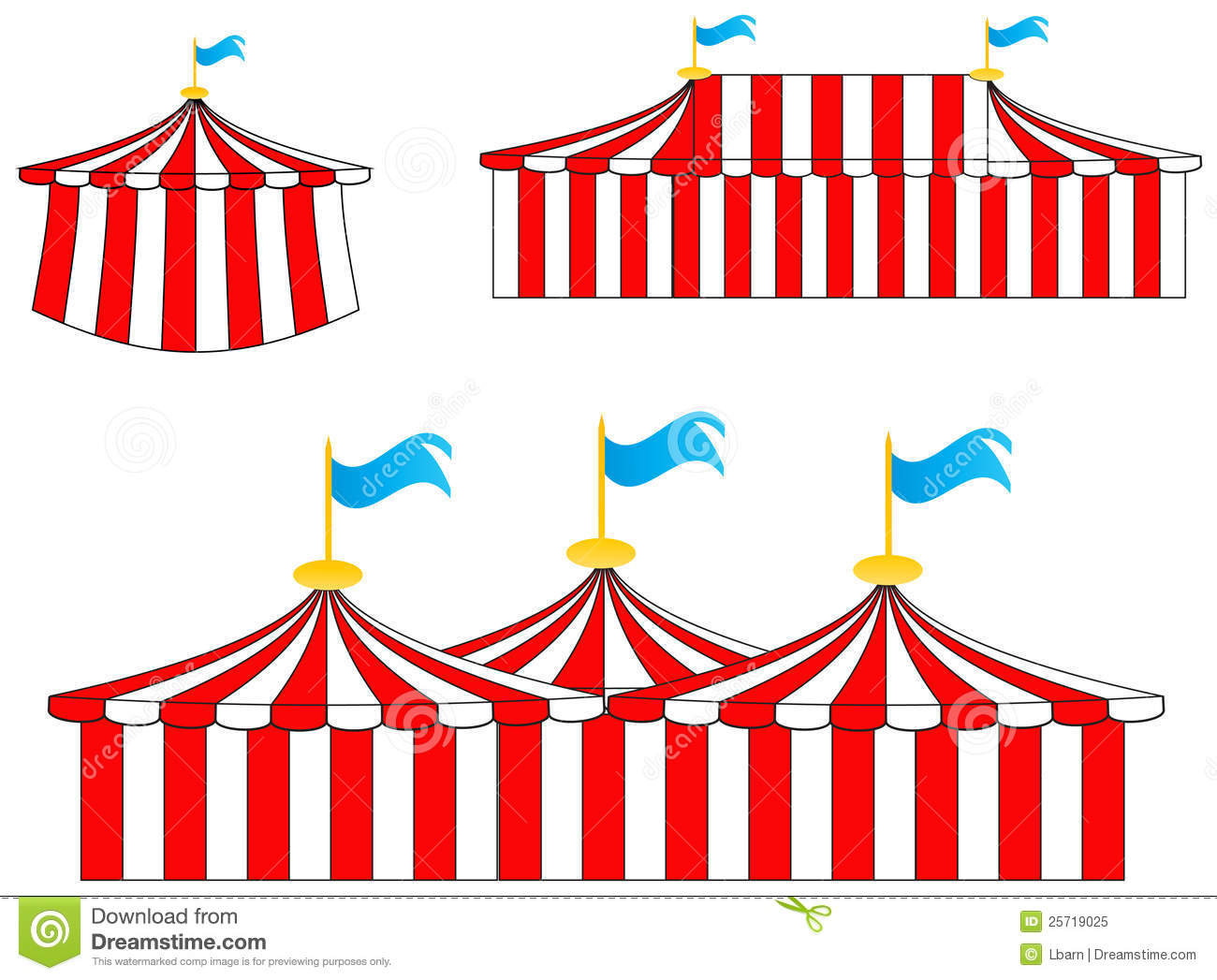 Carnival clipart pink circus tent White And Clipart Free Images