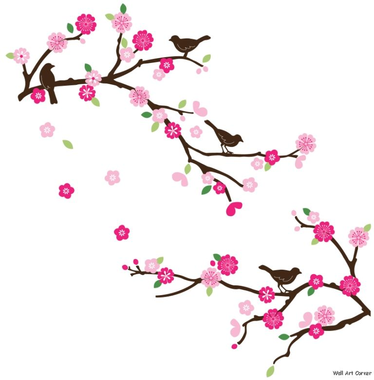 Sakura Blossom clipart cartoon #1