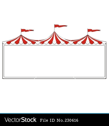 Decoration clipart circus Tent of  Circus border