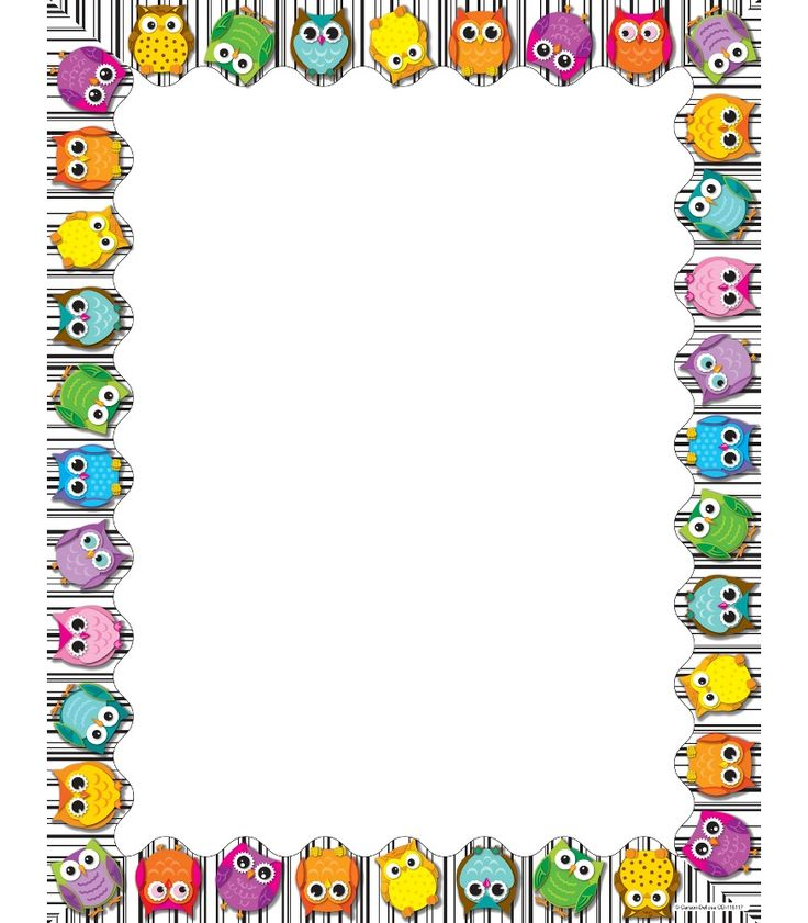 Owl clipart frame To design delightful So on