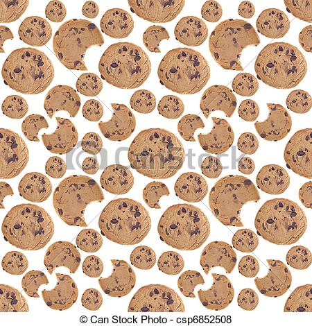 Wallpaper clipart cookie Seamless Chip Seamless  Illustration