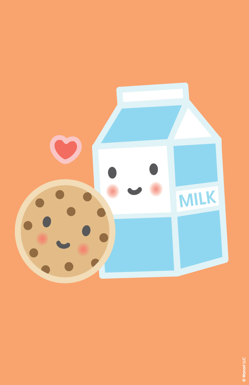 Wallpaper clipart cookie Milk cookies ideas Poster wallpaper