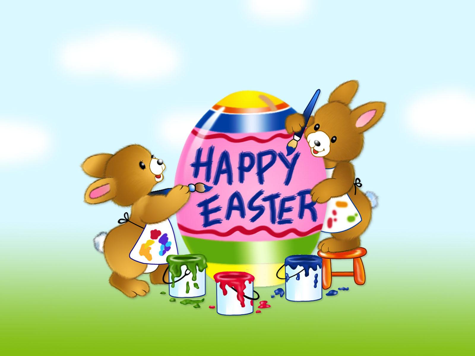 Wallpaper clipart easter Easter Download rabbit Easter happy