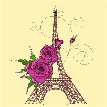 Eiffel Tower clipart vintage Vector) tower Free vector