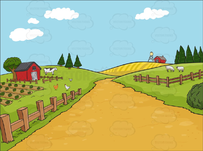 WallpaperSafari Clipart Farm Stock Cartoon