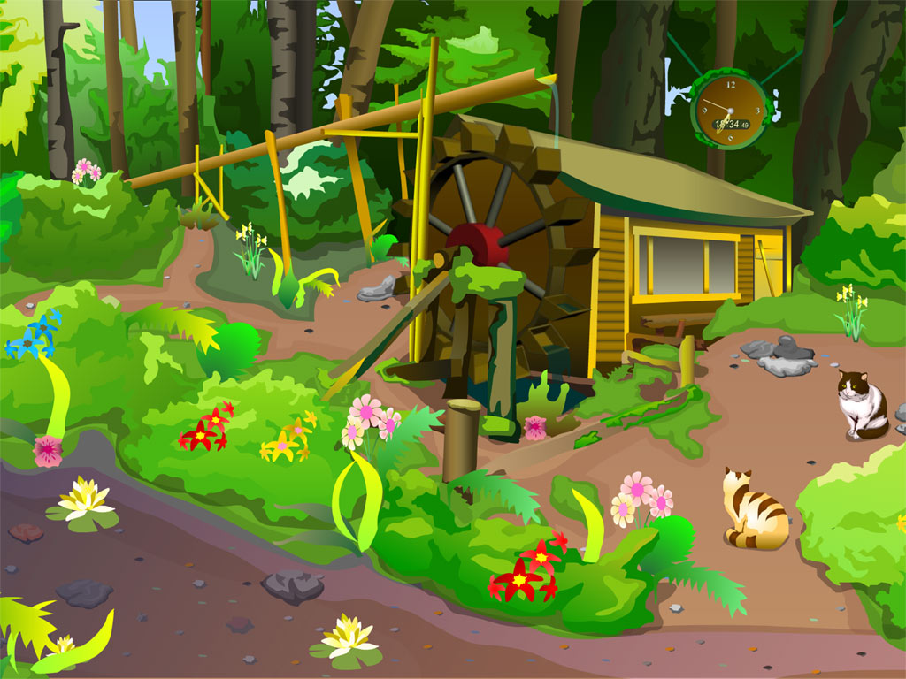 Wallpaper clipart forest A a touch nature! Clock: