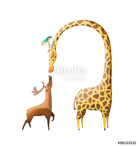 Wallpaper clipart giraffe Background and Fantastic Deer Cartoon