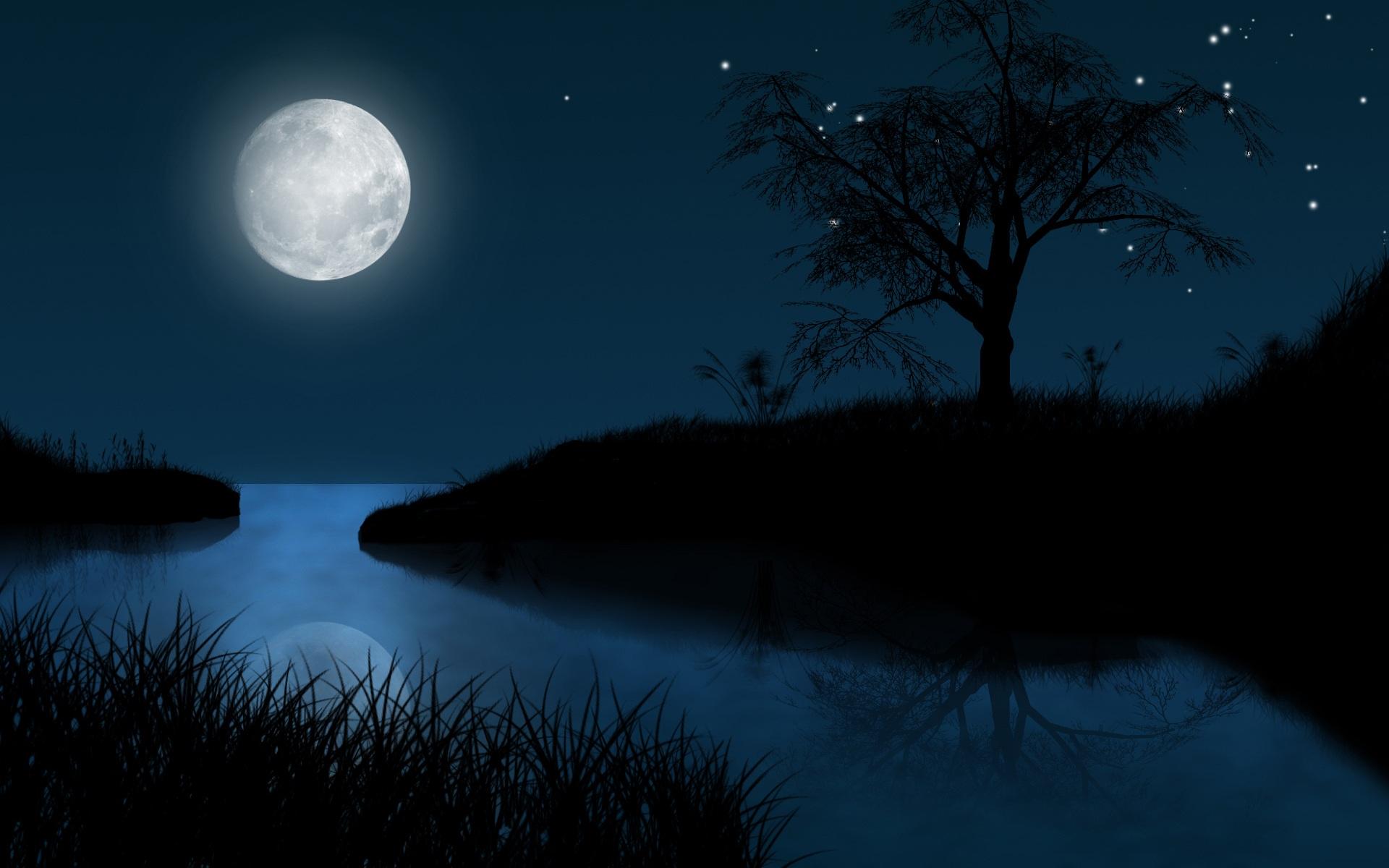 Moon  Night wallpaper Moon