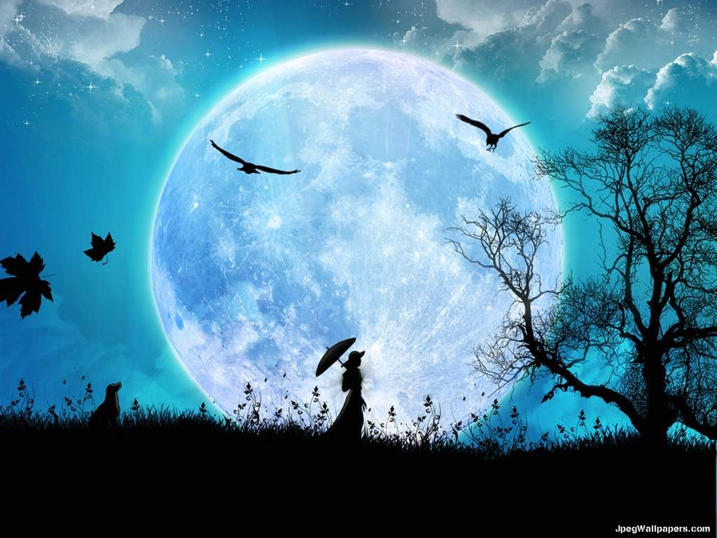 Moonlight clipart blue moon #3