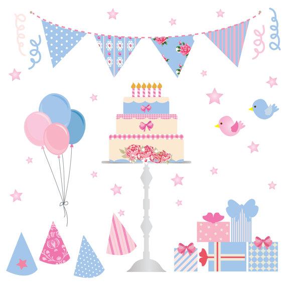 Wallpaper clipart party Birthday Birthday Birds Cake Hats