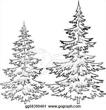 Pine Tree clipart many tree On Illustration 25+ Clip Art