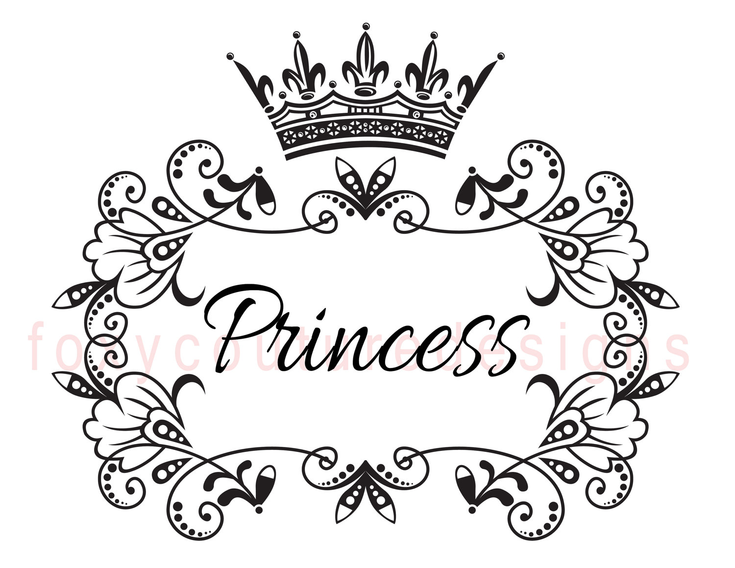 Elegance  clipart princess crown With Princess Towels Pillows Word