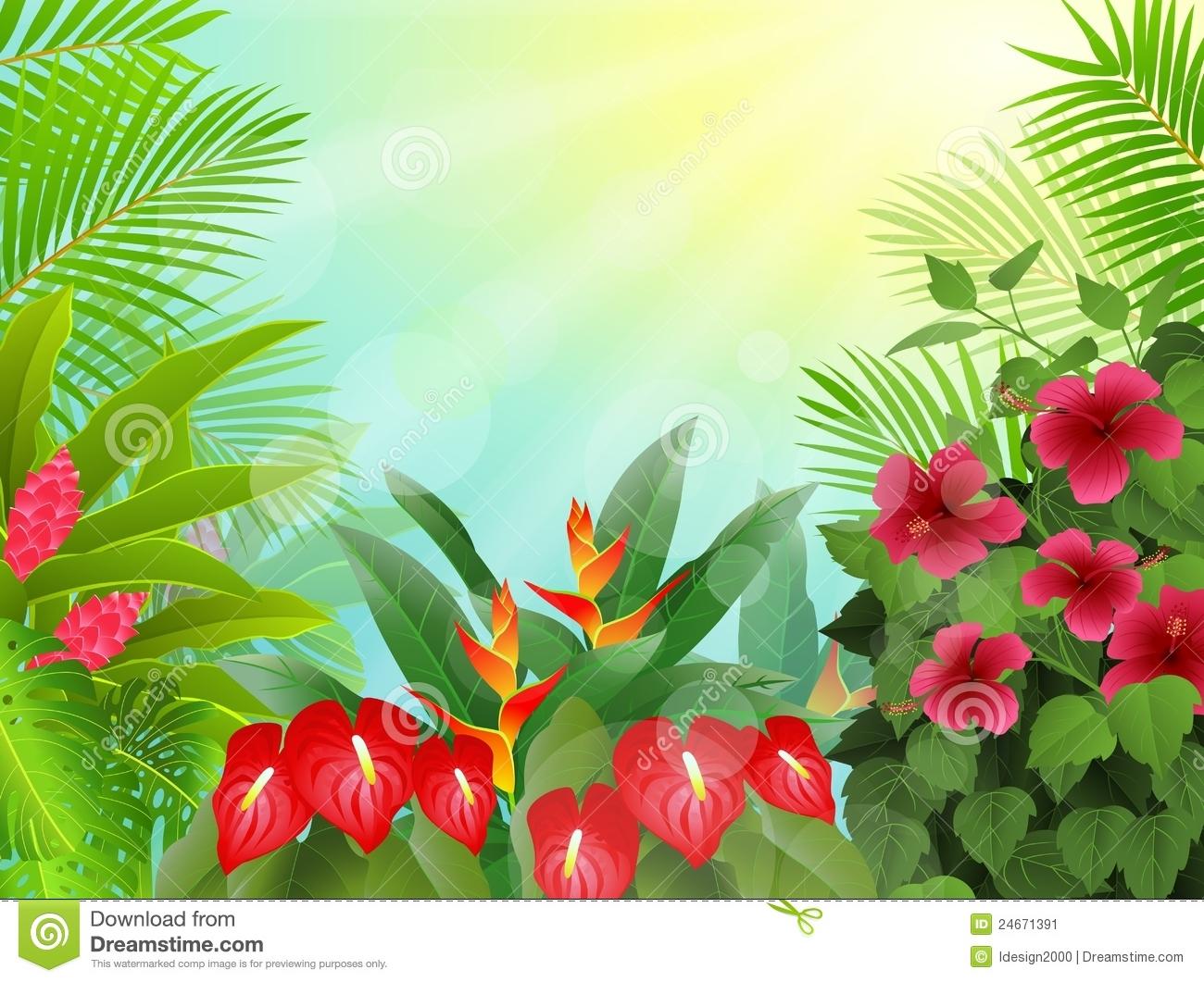 Wallpaper clipart tropical Tropical Wallpaper Clip Art Hawaiian