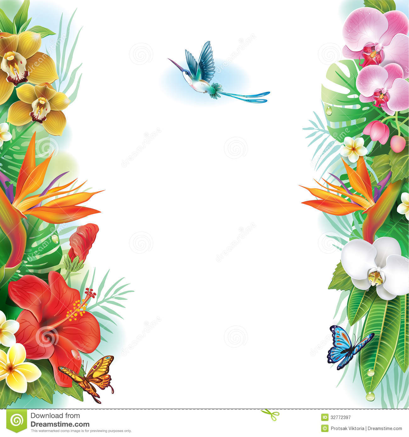 Wallpaper clipart tropical Design Clipart And Free Flower