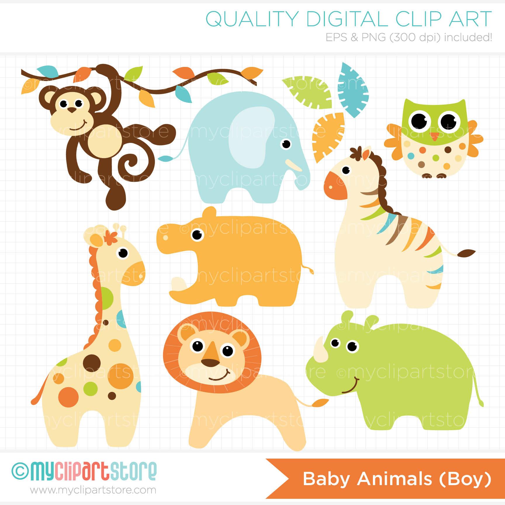 Wildlife clipart baby shower safari Clipart free Zoo Animals Free