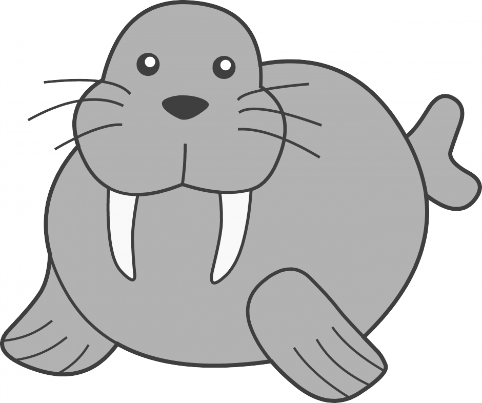 Arctic clipart snow animal Clipart Free Clipart Images Walrus