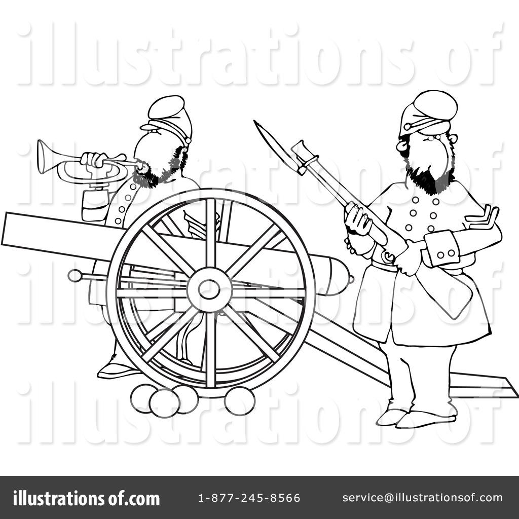 Civil War clipart black and white Cox rf War clipart Clipart