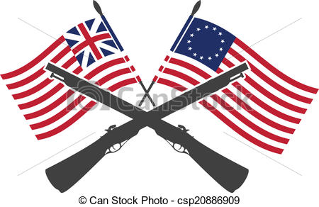 American Flag clipart war independence Of american of Vector Clipart