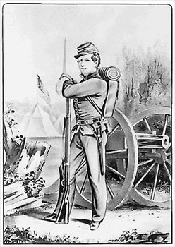 Civil War clipart black and white And boy Free  Free