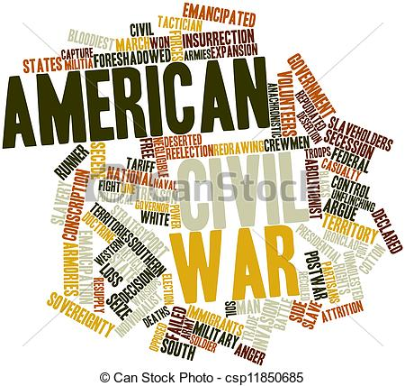 Word clipart war Civil  American cloud Civil