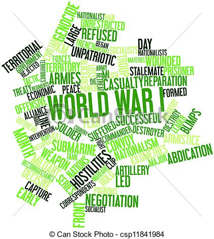 Word clipart war Illustration for World Stock