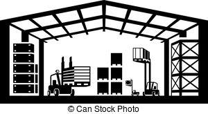 Industrial clipart warehouse Vector  warehouse Warehouse clip