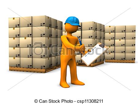 Warehouse clipart stockroom   character clipboard 26