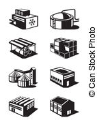 Warehouse clipart stockroom  Industrial illustration Clipart EPS