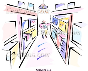 Warehouse clipart stockroom Person person in art in