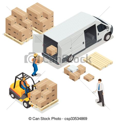 Warehouse clipart storage warehouse From Clip of unloading and
