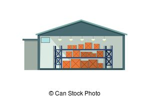 Warehouse clipart storekeeper Interior Icon and of storage