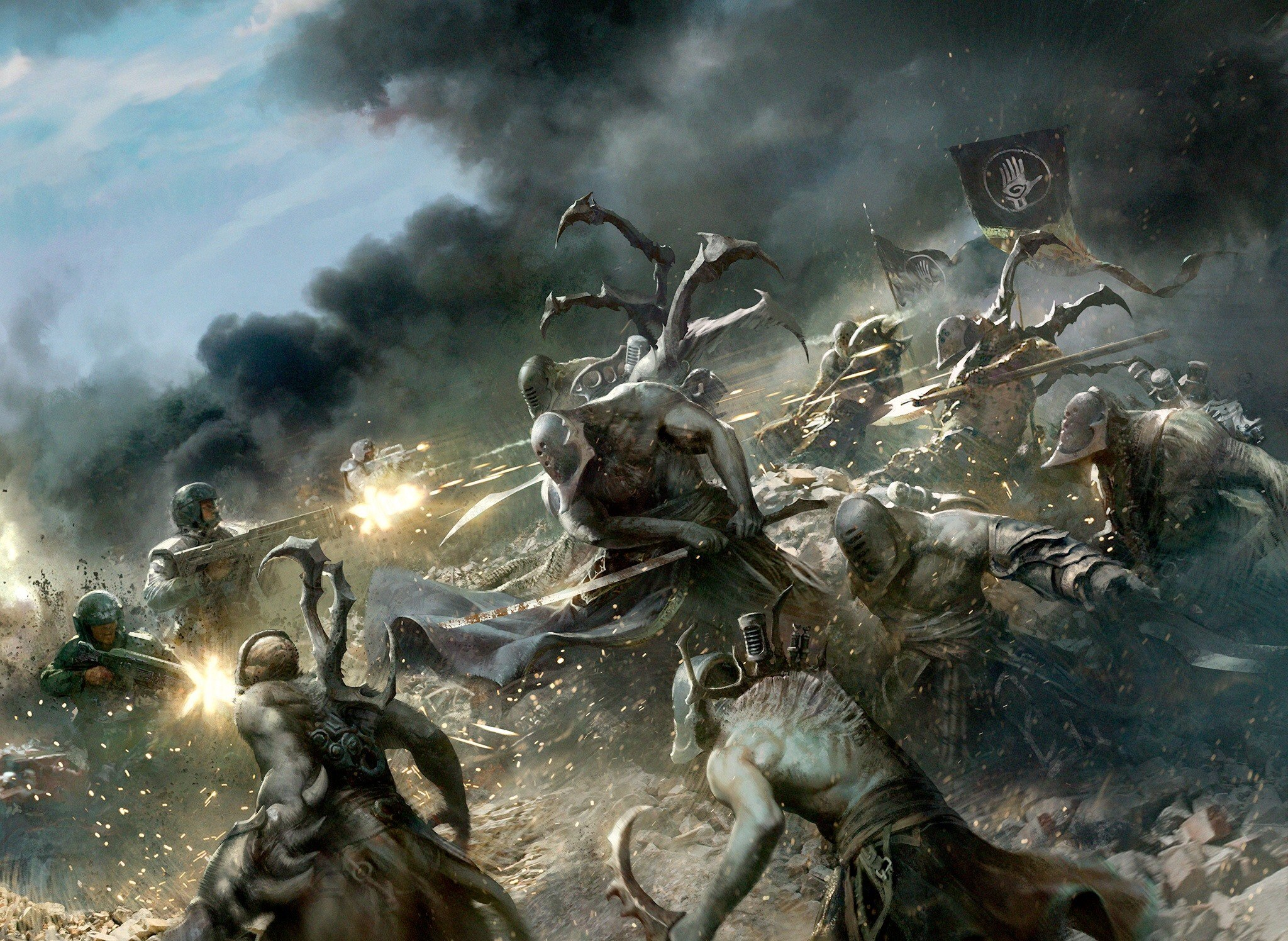 Warhammer clipart 1080p 45 eldar Troops ideas Cadian