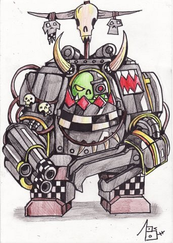 Warhammer clipart cartoon OrK 40K Sufferst DeviantArt on