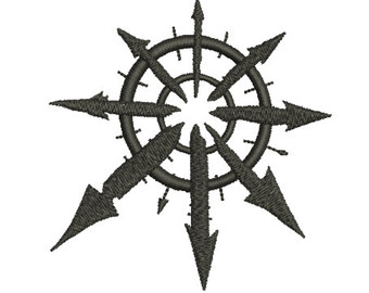Warhammer clipart chaos symbol 40K Chaos Embroidery chaos Star