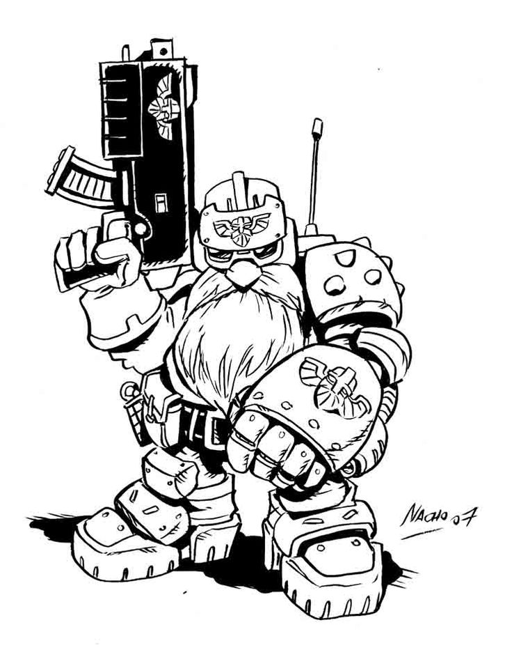 Warhammer clipart graphic novel Pinterest Fernandez 40K Art Nacho