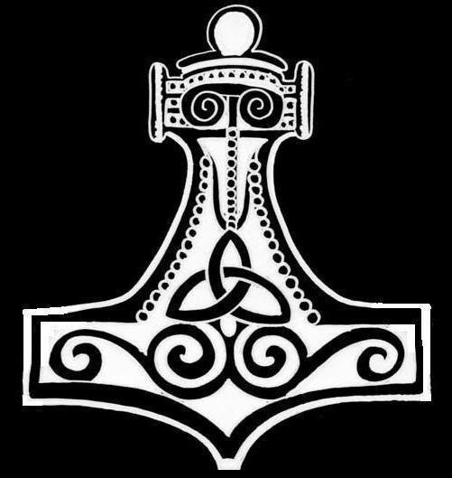 Warhammer clipart norse  Northern Mjollnir warhammer shortened