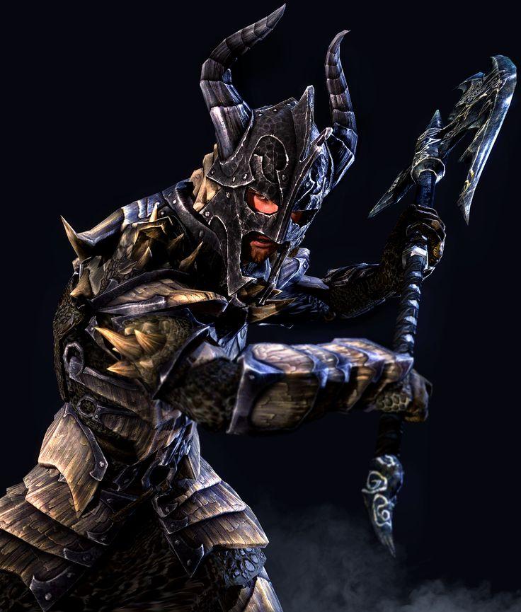 Warhammer clipart skyrim dragon Npc by paladin character human