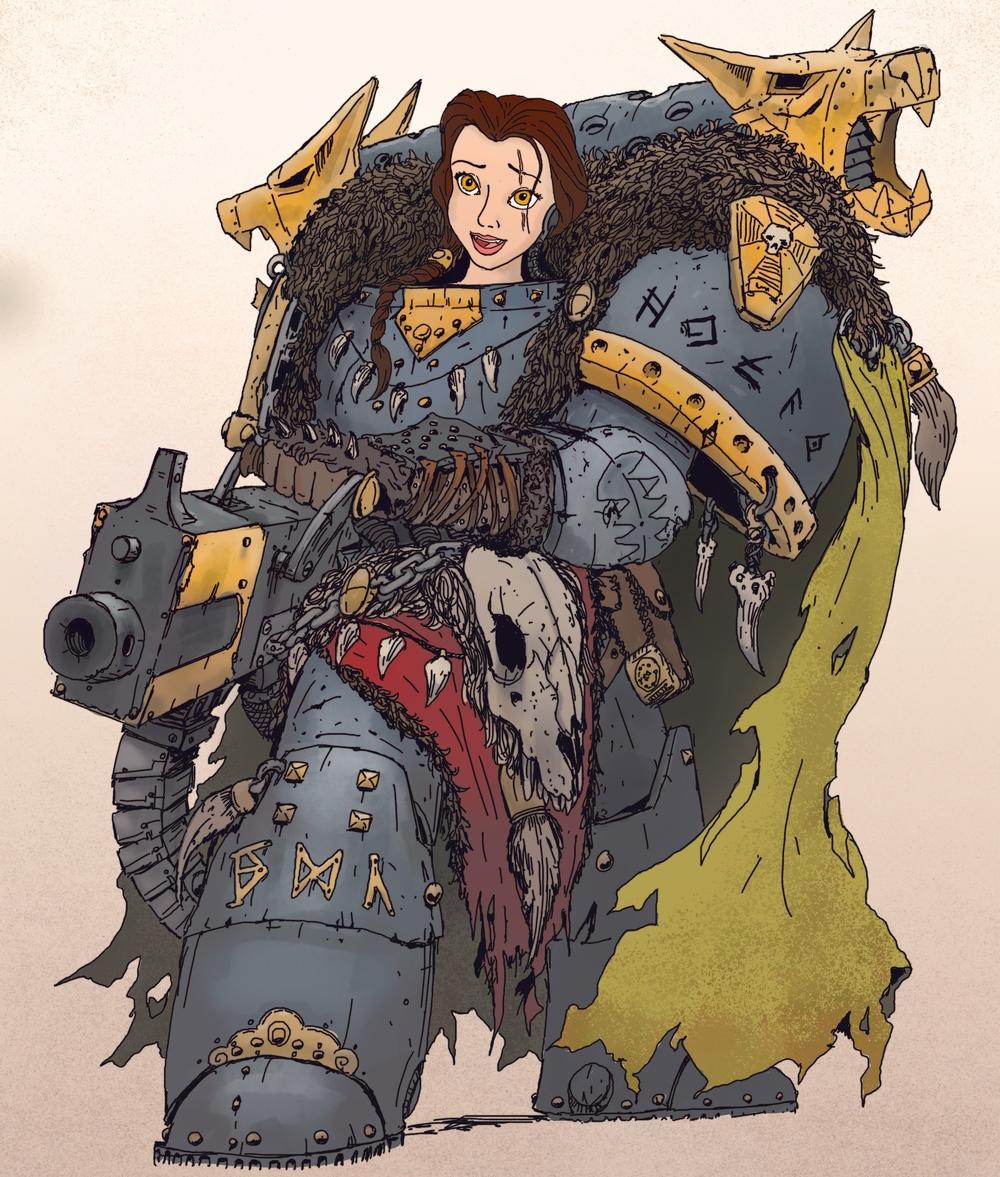 Wolf clipart badass Space 40K princesses as Princesses
