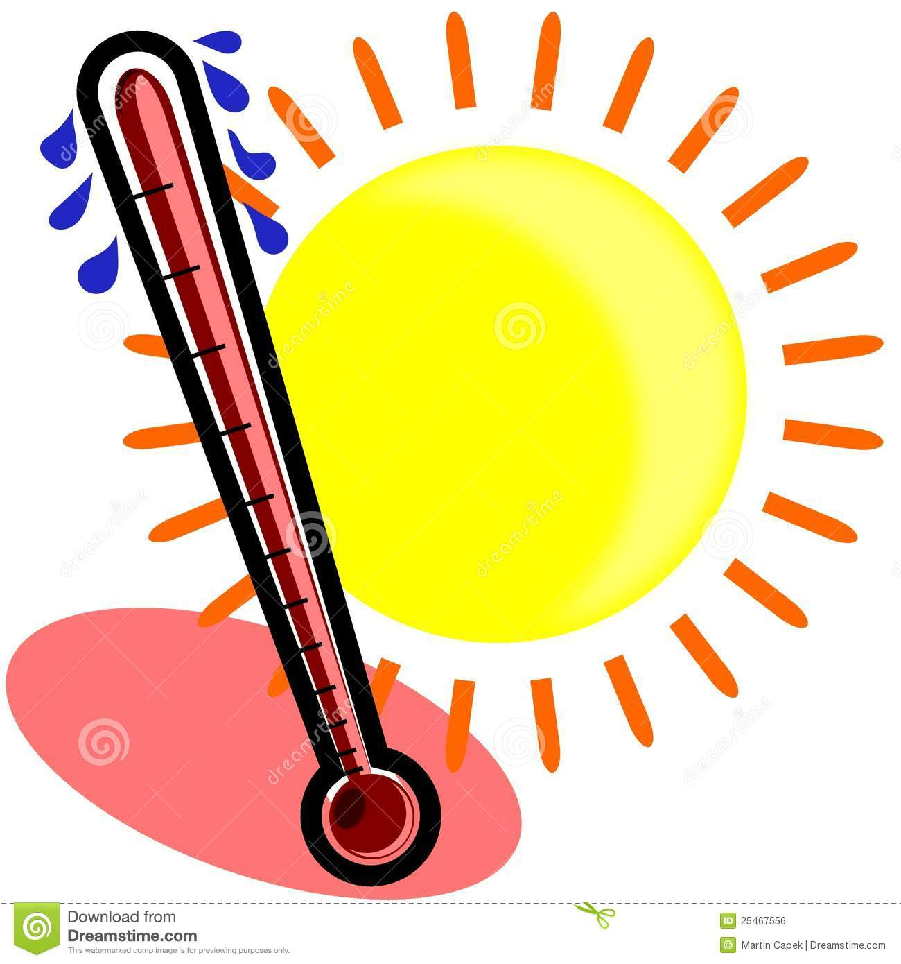 Heat clipart weather thermometer #7