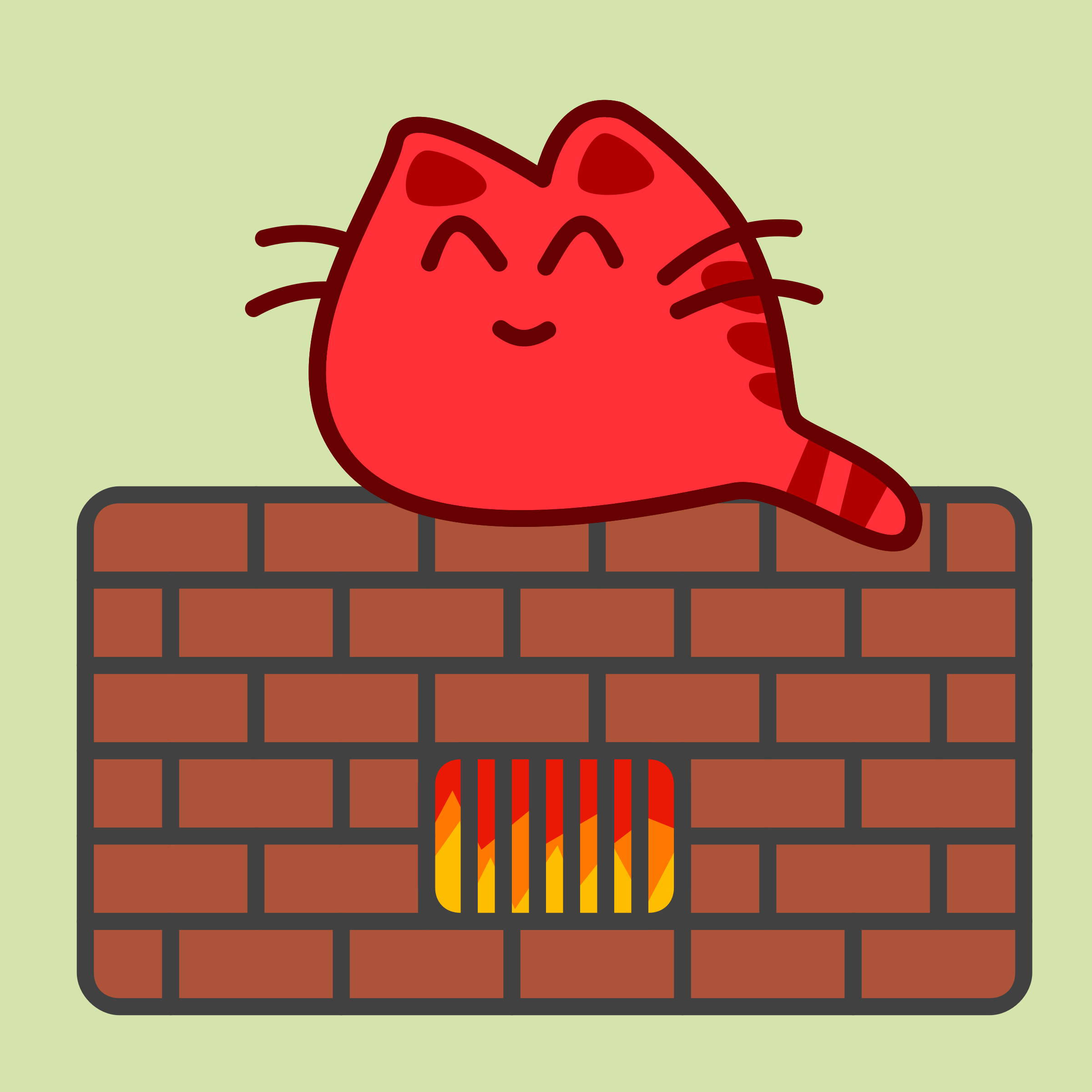 Warmth clipart Happy Cat on on Oven