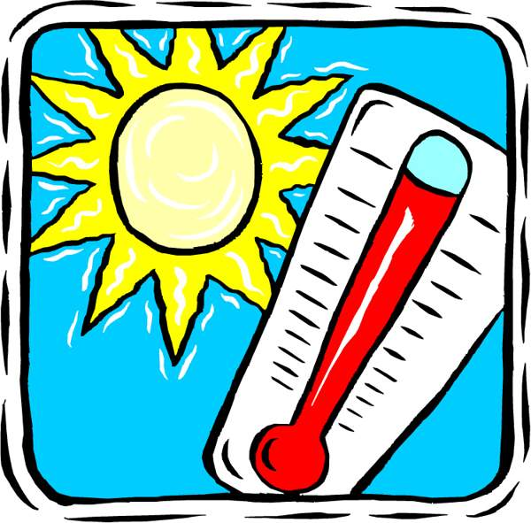 Warmth clipart hot weather Clipart hot hot thermometer thermometer