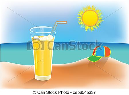 Warmth clipart sunny Of icy summer day juice