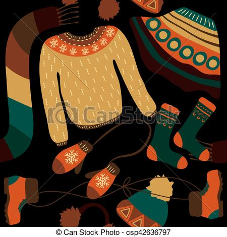 Warmth clipart winter weather Vectors for woollies Warm Clothes